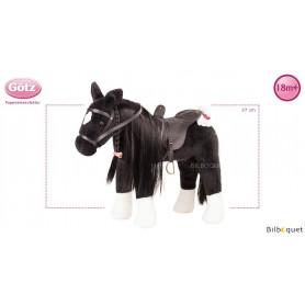 Cheval noir à coiffer - Poupées et accessoires Götz
