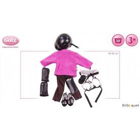 Tenue complète Cavalière - Vêtement pour poupée 45-50cm