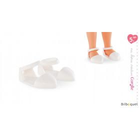 Paire de sandales blanches 33cm - ma chérie création