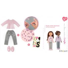 Ens. Pyjama & Chaussons à customiser 33cm - ma chérie création