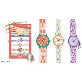 Tatouages éphémères pour enfants-Les montres de Wendy