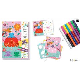 Coloriage Les jolies robes de Marie - Loisir Créatif-3-6ans