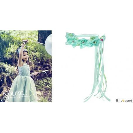 Couronne de fleurs Claire - Vert menthe - Accessoire pour déguisement enfant