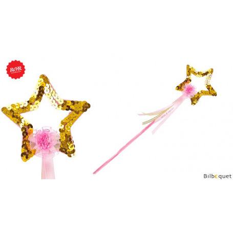 Baguette magique étoile Sady - Dorée - Accessoire fille