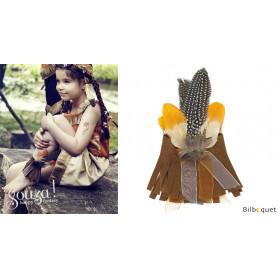 Anoki Bracelet indien de cheville ou poignet - Accessoire déguisement