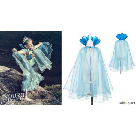 Cape de sirène bleue Maryola - Déguisement fille
