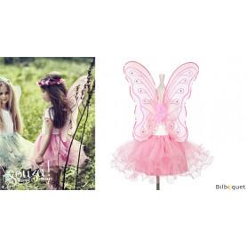 Tenue de fée papillon rose Janneke - Déguisement fille