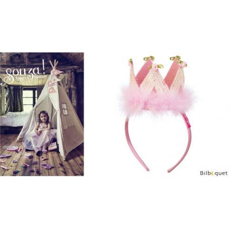 Couronne rose Felicia - Accessoire pour déguisement enfant