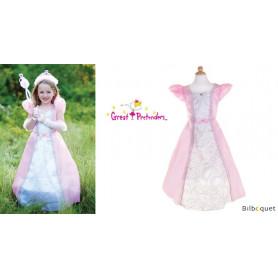 Robe Parisienne rose avec cerceau - 5/6 ans