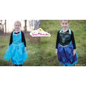 Tablier/robe réversible Reine des Neiges - 4/7 ans