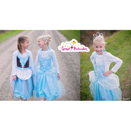 Tablier/robe réversible Cendrillon - 4/7 ans