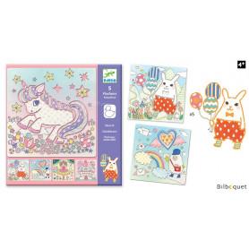 5 pochoirs - Kawaïland - Loisirs créatifs pour enfants