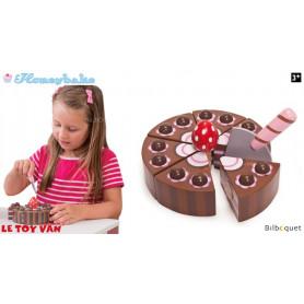 Gâteau au chocolat - Jouet d'imitation en bois
