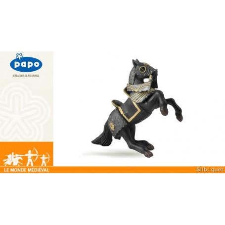 Cheval du Chevalier en armure noire