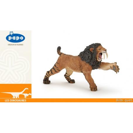 Smilodon rugissant - Figurine jouet