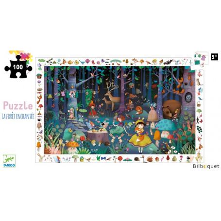 La forêt enchantée - Puzzle d'observation 100 pièces