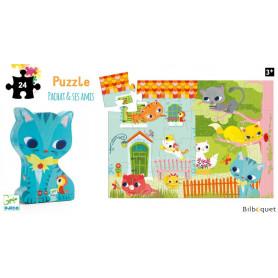 Pachat & ses amis Puzzle Silhouette 24 pièces