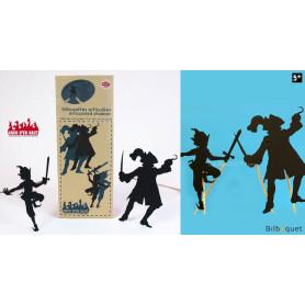 Silhouettes articulées - Peter Pan et le pirate