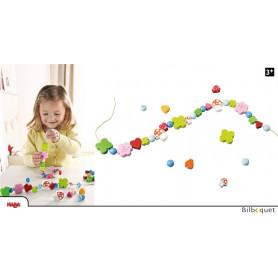 Perles en bois Porte-bonheur - Jeu de laçage