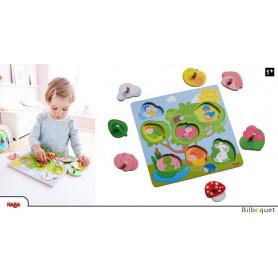 Puzzle-encastrement en bois Cachette d'animaux