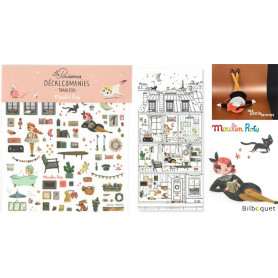 Assortiment 30 décalcomanies - immeuble parisien