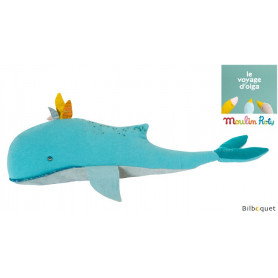 Coussin baleine Joséphine - Le voyage d'Olga