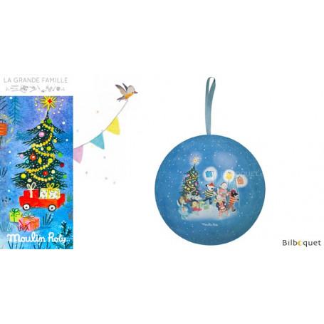 Boule de Noël bleue 10cm La Grande Famille