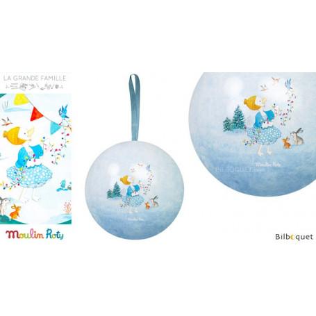 Boule de Noël bleue 7cm La Grande Famille