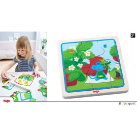 Puzzle en bois La souris aux fraises