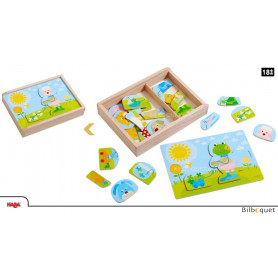 Puzzle en bois Méli-mélo d'animaux