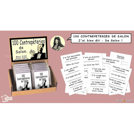 100 contrepèteries de salon - Jeu Marc Vidal