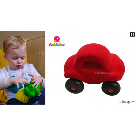 Micro véhicule - Voiture rouge - Rubbabu