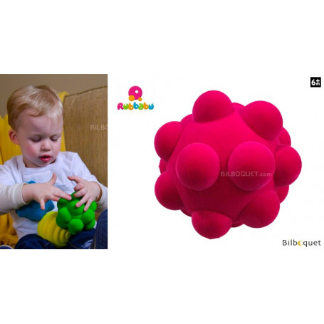 Balle sensorielle - Cailloux rose - Rubbabu