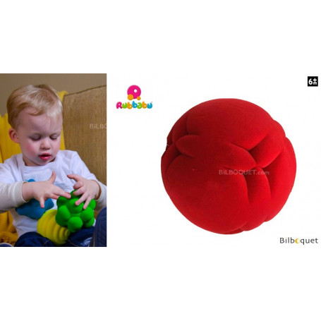 Balle tactile - Lune rouge - Rubbabu