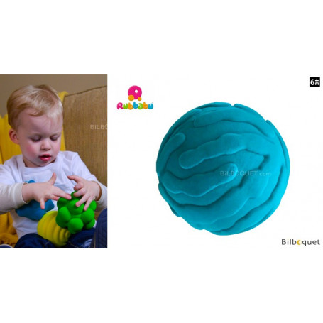 Balle tactile - Méduse turquoise - Rubbabu