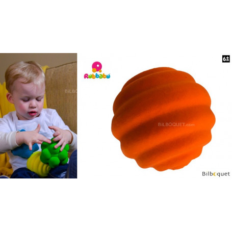 Balle tactile orange - Rubbabu