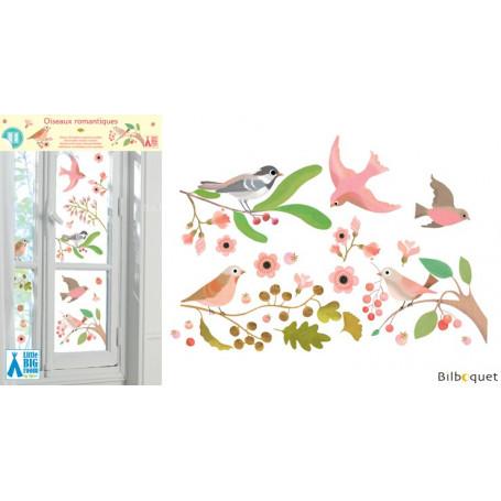 Stickers fenêtre Oiseaux romantiques