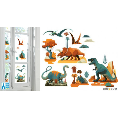 Stickers fenêtre Dinosaures