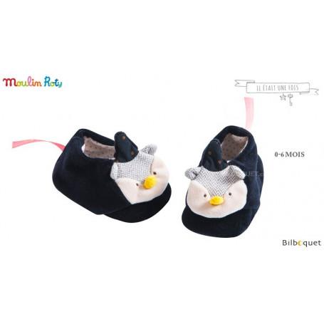 Chaussons Hibou pour bébé 0-6 mois - Il était une fois - Moulin Roty