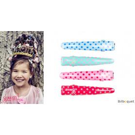 Pinces à cheveux Hailey - motif à pois pastel - 2 paires - Accessoire pour enfants