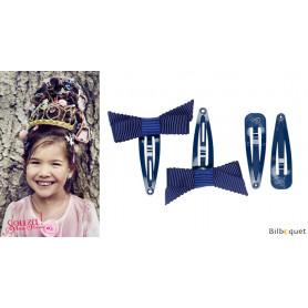 Pinces à cheveux Ambre - bleu marine - 2 paires - Accessoire pour enfants