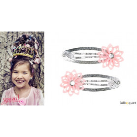 Pinces à cheveux Ciera - fleurs roses