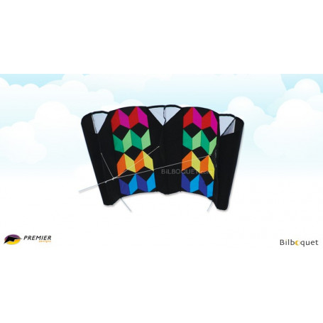 Cerf-volant Jumbo Power Sled 36 - Rainbow Illusion 323x150cm