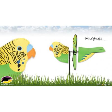 Oiseau Perruche 31cm - Petite éolienne de jardin