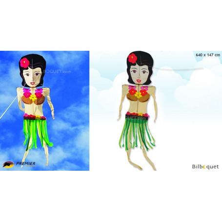 Cerf-volant dansant - Femme hawaïenne 640x147cm
