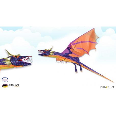 Dragon Coucher de soleil 3D - Cerf-volant monofil 211x231cm