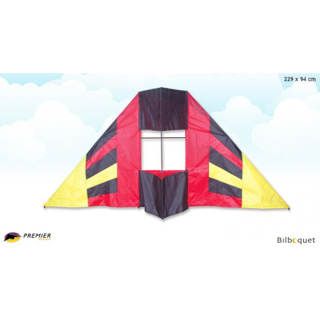 Delta box Flair rouge cerf-volant 229x94cm