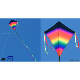 Eddy XL Super Rainbow - Grand cerf-volant monofil