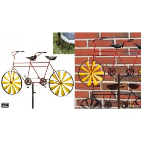 Éolienne métallique Bicyclette Tandem