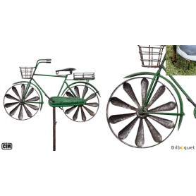 Éolienne métallique Vélo de ville